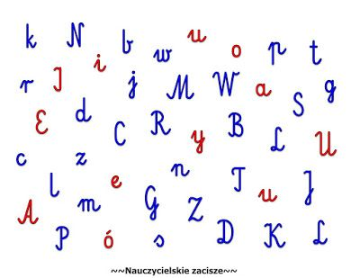 Nauczycielskie zacisze: Wyszukujemy litery - zabawa na utrwalenie lier, sp...