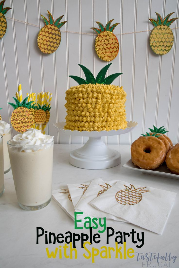 Easy Sparkly Pineapple Party With Cricut