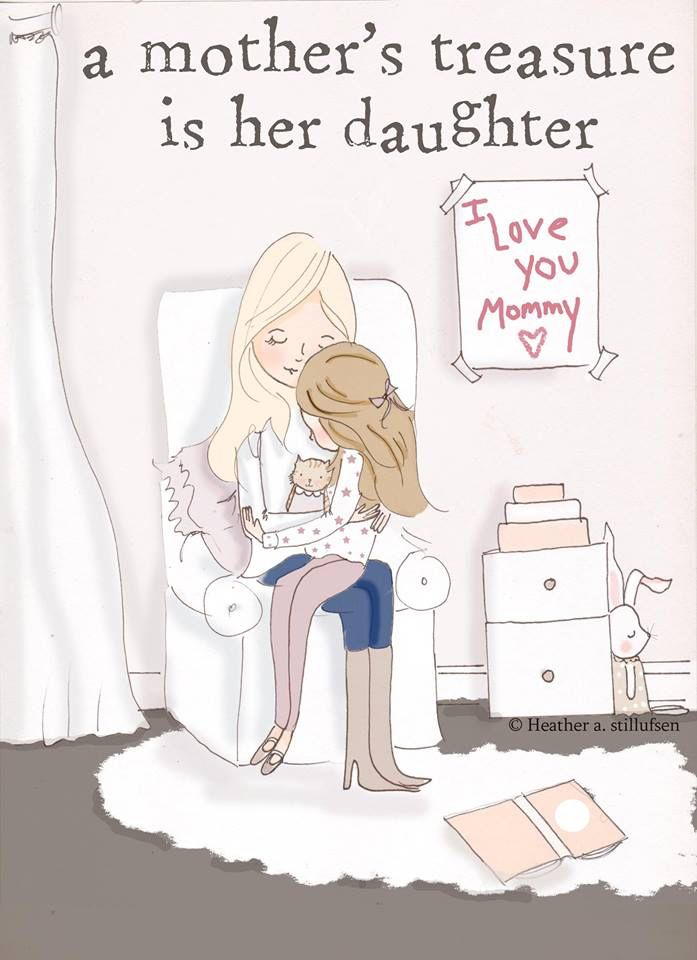 A Mother's Treasure - Mom and Daughter Art - Art for Moms - Inspirational Art… …