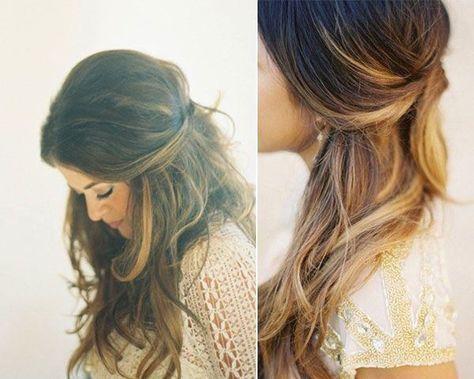 Semirrecogidos para bodas y fiestas. Semirrecogido con ondas en el pelo http://cocktaildemariposas.com/2014/08/04/semirecogidos-para-bodas-y-fiestas/