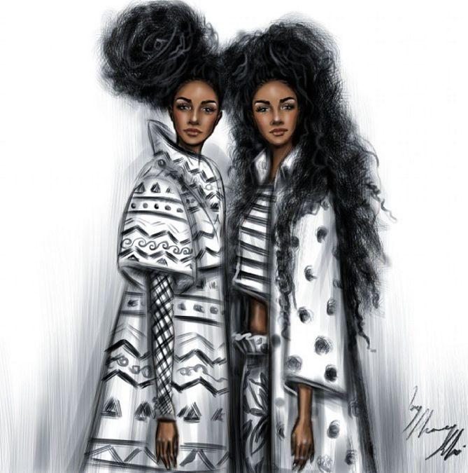 Jordanian illustrator and fashion designer; Shamekh Bluwi || Inspired by Cipriana and TK Wonder of Urbanbushbabes.com