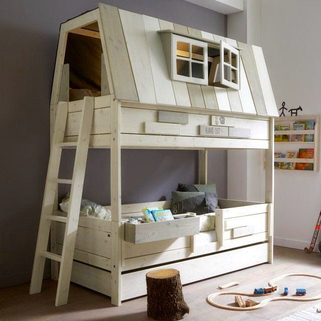 how fun would a treehouse bunkbed be? :) Hang Out Bunk Bed