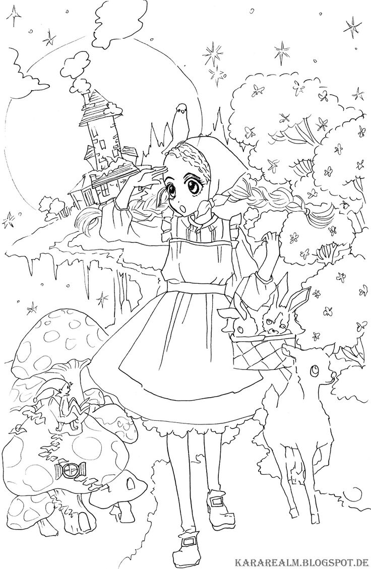 Kara Realm: sugar sugar rune coloring pages