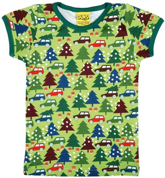 Duns Sweden s/s tee - Winter trip - Green Retro Baby Clothes - Baby Boy clothes - Danish Baby Clothes - Smafolk - Toddler clothing - Baby Clothing - Baby clothes Online