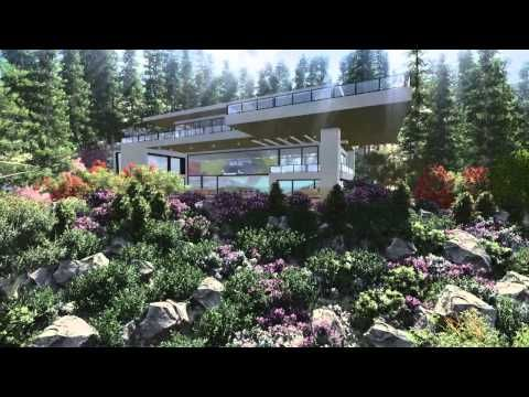 SketchUp and Lumion Animation - House and Train in Hills