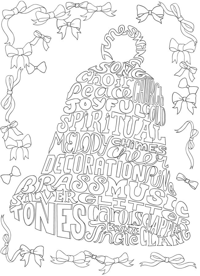 Creative Haven Whimsy Christmas A Wordplay Coloring Book Dover Publications Coloring Pages Christmas Colors Easter Coloring Pages