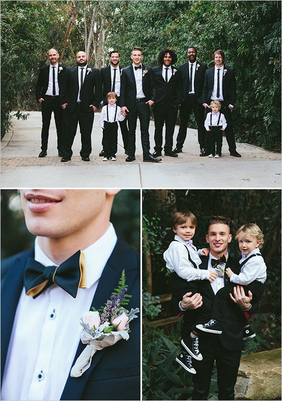 black and white groom and groomsmen @weddingchicks