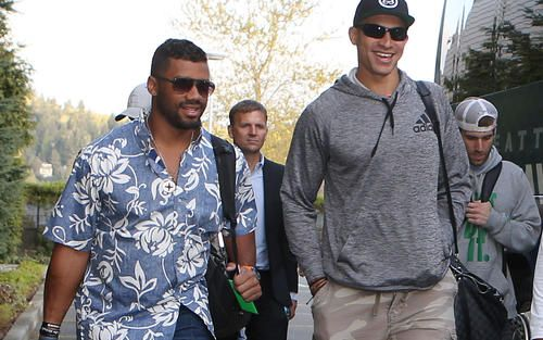 """Russell Wilson brings Seahawks player-camp to Hawaii: """"Completely invested is our mission""""   Seattle Seahawks"""