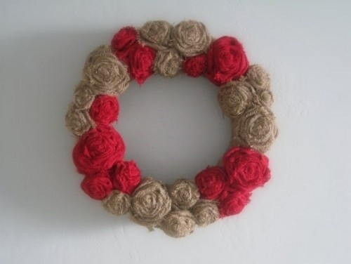 Burlap Wreath by The Walnut Street House eclectic artwork