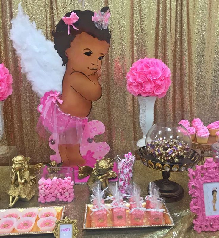 26 best images about heavenly angel wings bb shower on - Baby girl baby shower decorations ...