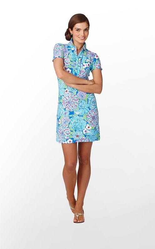 Carolyn Dress in Worth Blue May Flowers