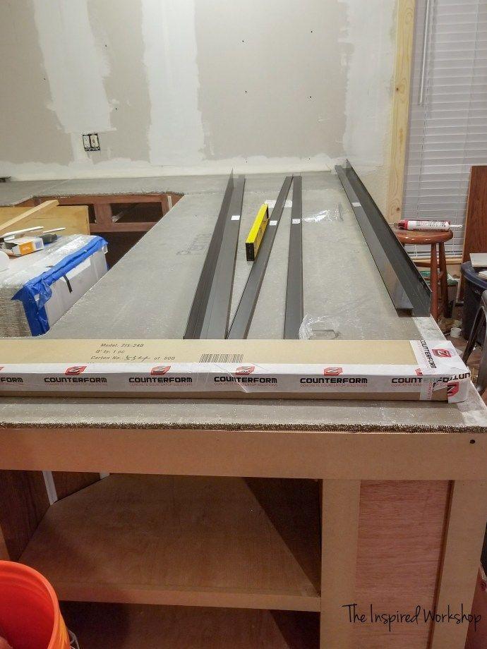 Diy Concrete Countertops Pour In Place Diy Concrete
