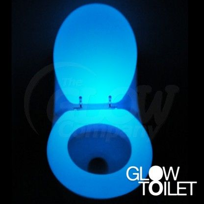 Glow in the dark toilet seat - to prevent falls and provide high contrast #dementia #dementiadesign