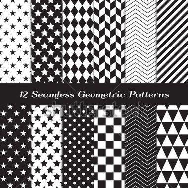black-and-white-geometric-seamless-patterns-modern-backgrounds-in-chevron-polka-dot-diamond-checkerboard-stars-triangles_156497345.jpg (380×380)