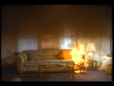 At every twist and turn of the video, viewers get a bird's-eye view of fire's path of destruction and are astonished at how rapidly smoke and flames from a small fire envelop a home, making escape virtually impossible.