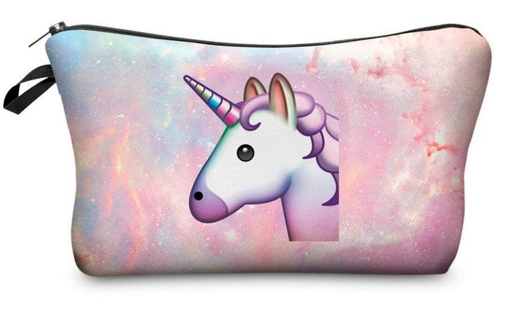 Unicorn Emoji Make-Up Bag