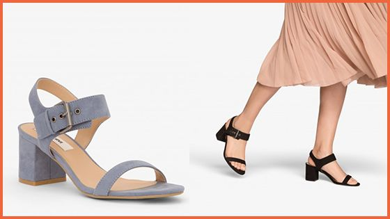 The Elysa Heeled Sandal has arrived in two fabulous colours: Sky & Black.