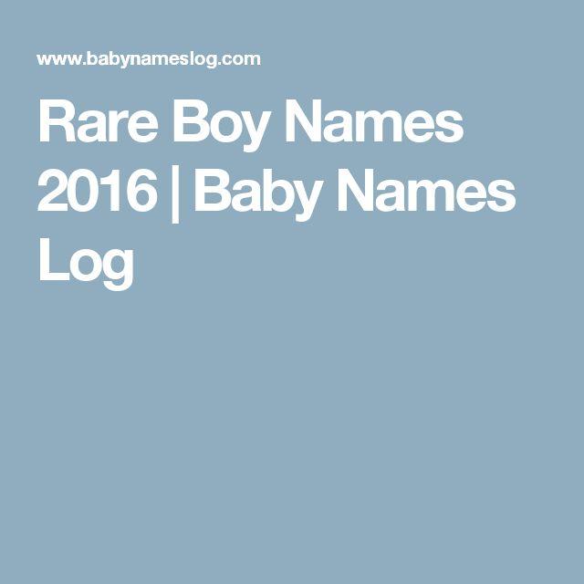 Rare Boy Names 2016