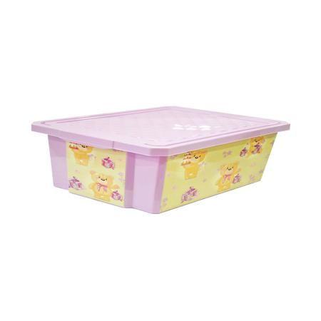 """Little Angel Ящик для хранения игрушек """"X-BOX"""" Bears 30л, Little Angel, лавандовый  — 750р.  Ящик для хранения игрушек """"X-BOX"""" Bears 30 л, Little Angel, лавандовый изготовлен отечественным производителем . Выполненный из высококачественного пластика, устойчивого к внешним повреждениям и изменению цвета, ящик станет не только необходимым предметом для хранения детских игрушек и принадлежностей, но и украсит детскую комнату своим ярким дизайном. Он выполнен лавандовом цвете, по бокам нанесены…"""
