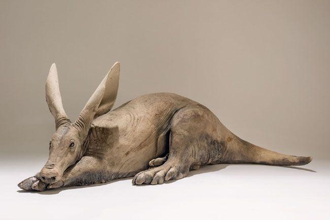 'Aardvark' Low-fired ceramic byb Nick Mackman