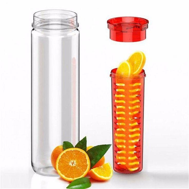 800ml Creative Plastic Water Bottle Flesh Leak-proof Fruit Water Bottle Infuser  Health Office Outdoor Bicycle Camping