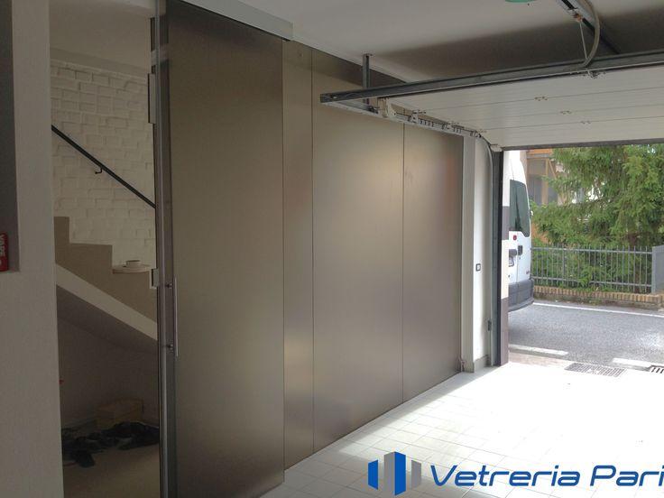 11 migliori immagini pareti in vetro sistemi ad - Porta garage scorrevole ...