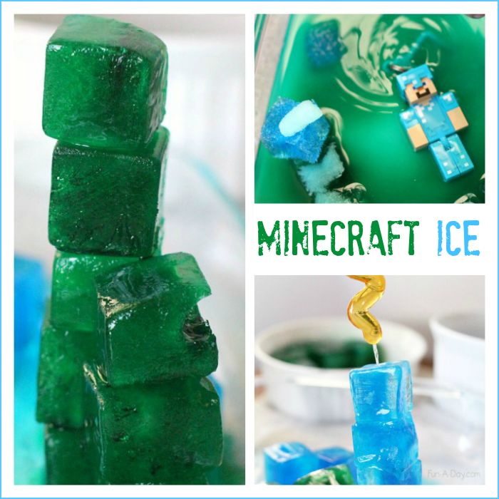 Minecraft ice activity - lots of simple science fun for Minecraft lovers