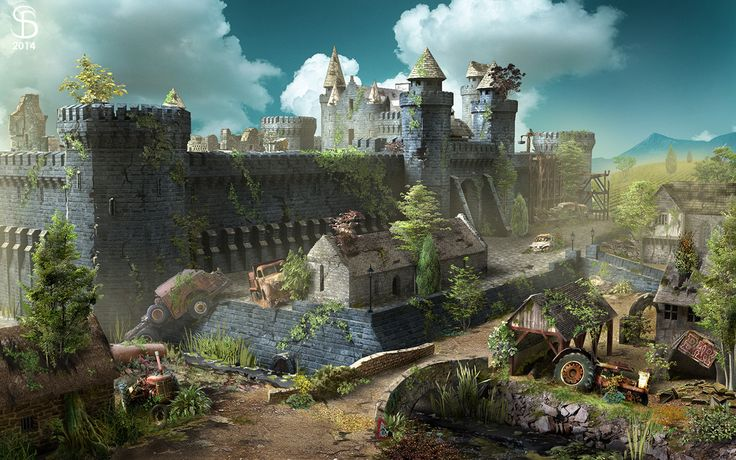 [Мedieval fortress location. https://www.artstation.com/artwork/lEnXz https://www.behance.net/gallery/50345531/Battle-robots-shooter-game]