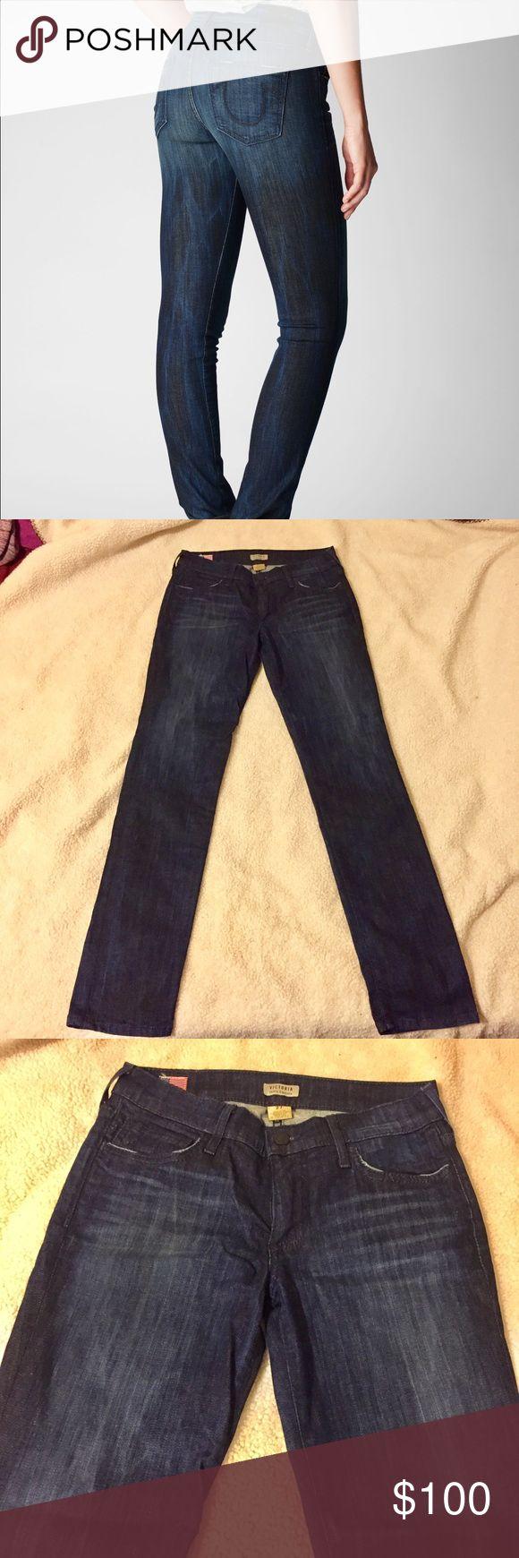 True Religion Denim Blue Jeans True Religion Denim Blue Jeans Victoria Mid Rise Skinny Cigarette Women's Jeans Only worn once! True Religion Jeans Skinny