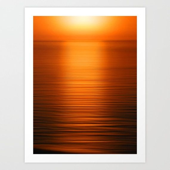Deep Orange Duvet Cover Ocean Duvet Cover Queen by YarsPhotography