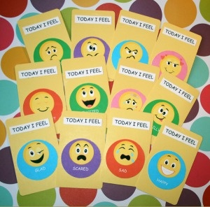 """""""My Feelings"""" cards- could have students choose one each day to gauge how they are doing."""