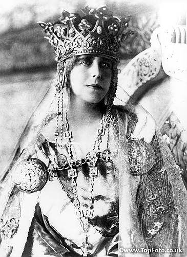 Queen Marie of Romania in Coronation dress.