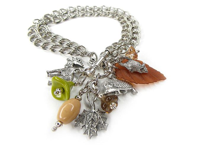 """Who's there in the Forest?"" Charm Bracelet  Shesterneva.com"