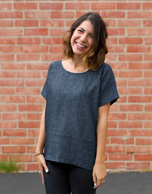 free pattern for boxy tee!