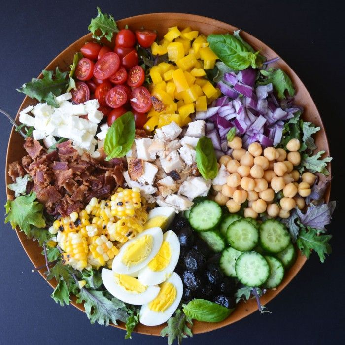 Chopped Salad with Spicy Tomato Vinaigrette - healthy and beautiful chopped salad