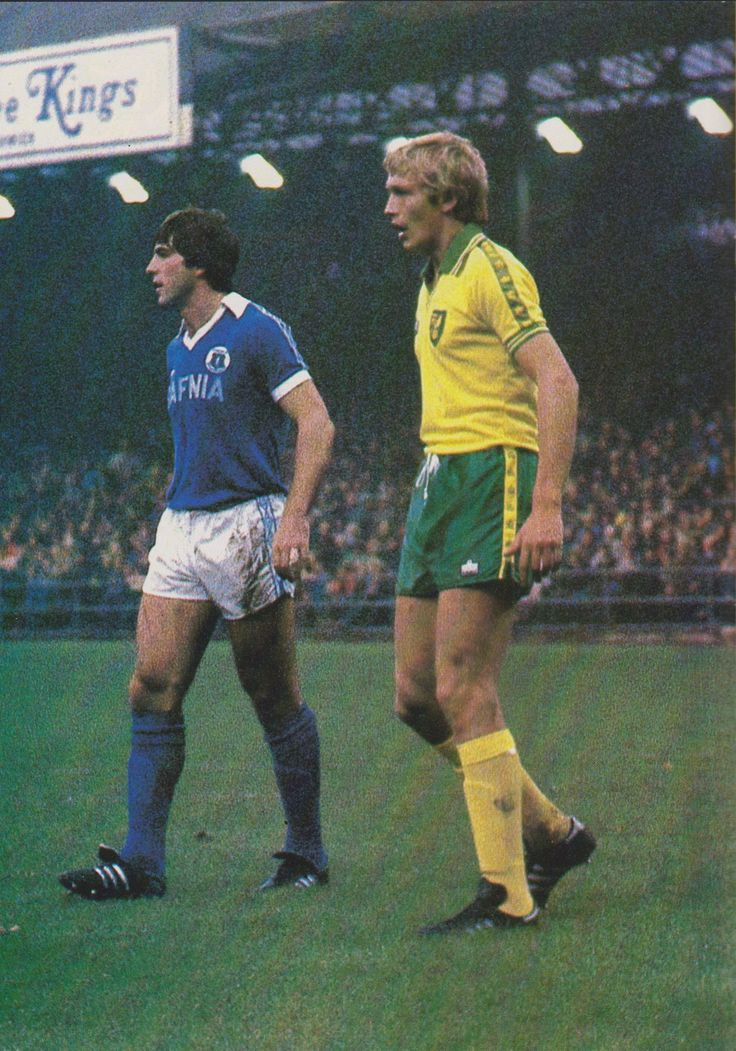 Roger Brown Norwich City and Bob Latchford Everton 1979
