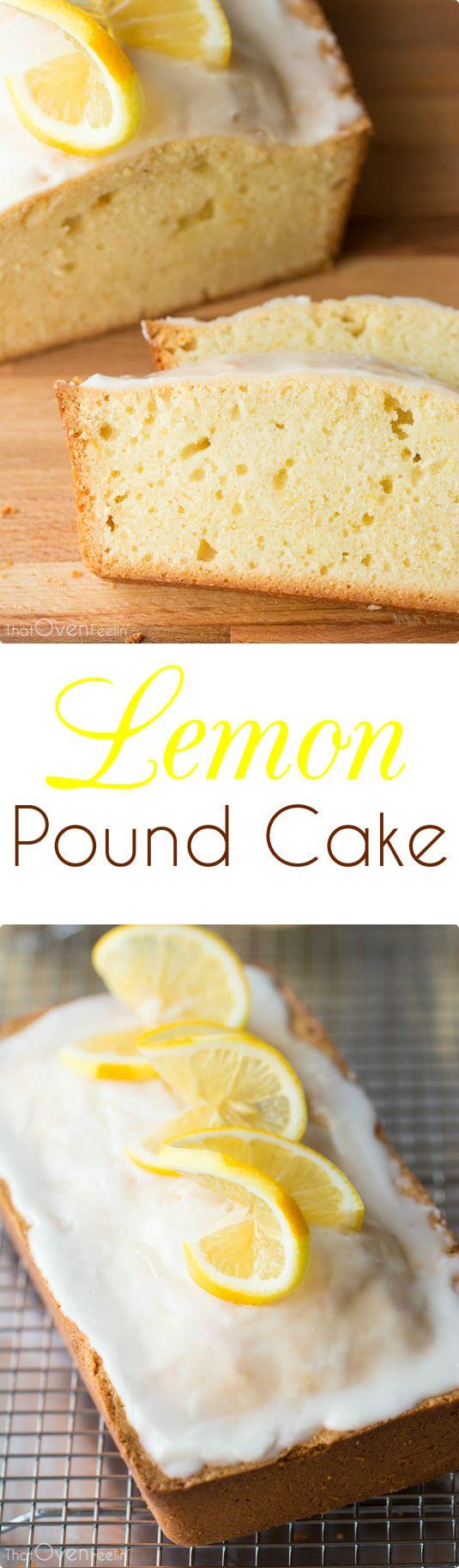 Lemon Pound Cake with a Tangy Lemon Icing