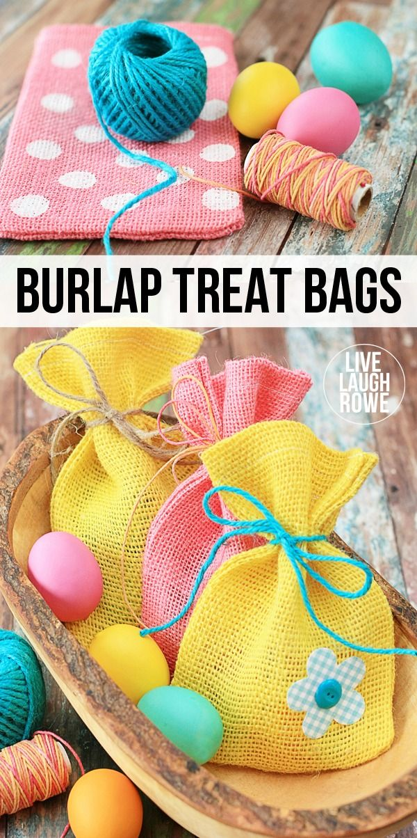 284 best easter crafts diy images on pinterest easter crafts diy burlap treat bags perfect for easter or spring perfect for gifting sweets or small solutioingenieria Gallery
