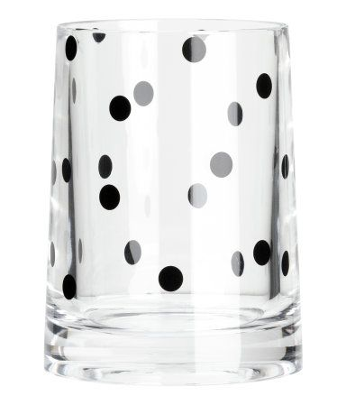 Polka dot toothbrush mug Product Detail | H&M US  I can use it for makeup brushes instead