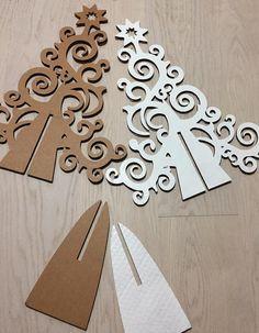 Eco design Christmas tree table decoration by bottegadicartone