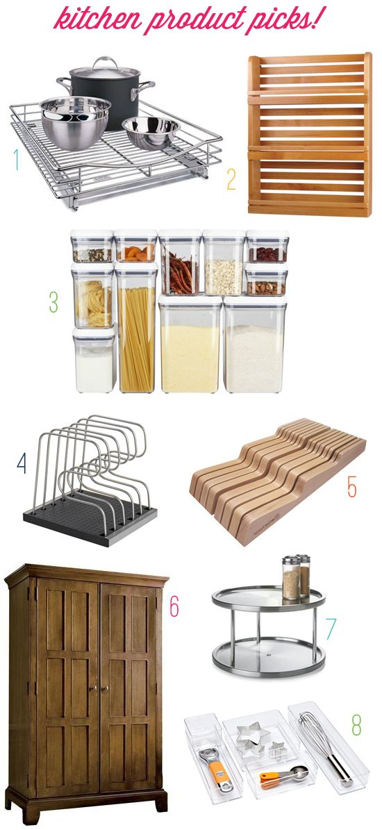 organize this: kitchen necessities!