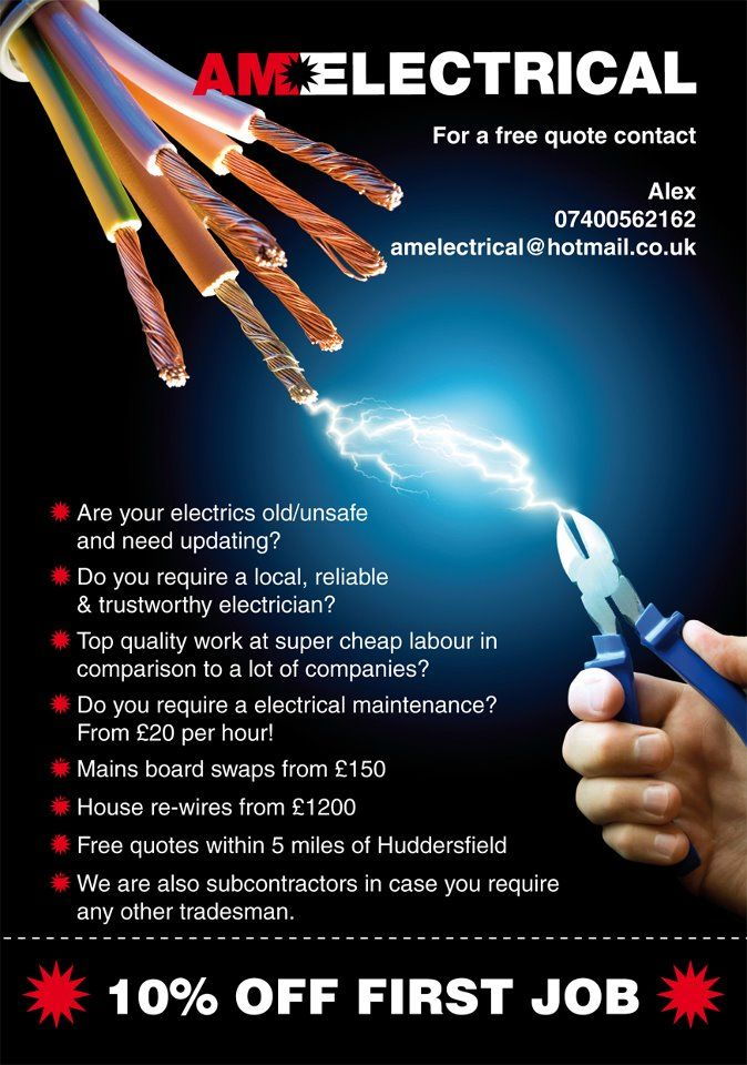 Electrician Flyer Design SHOCKING Biz Pinterest
