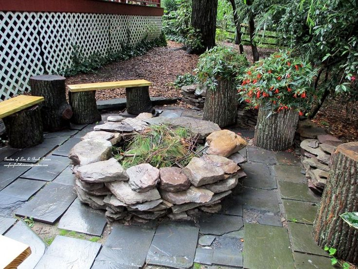 Build your own Fire Pit...honey and I talked about something similar...I really like this...