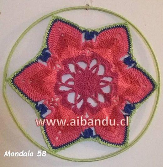 Mandala 58 ... tejido a crochet ...