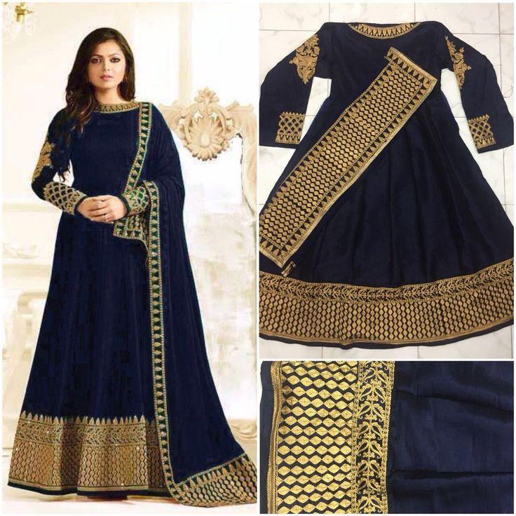 Indian Designer Suit Salwar Pakistani Kameez Anarkali Bollywood Wedding Dress US