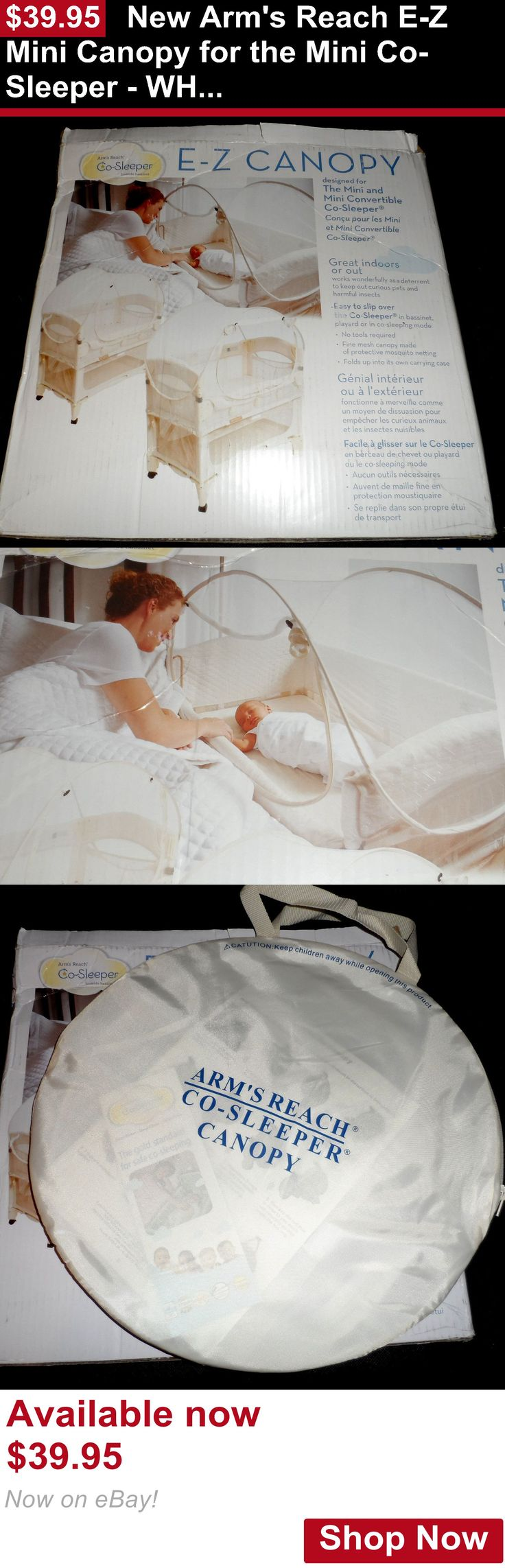 Baby Co-Sleepers: New Arms Reach E-Z Mini Canopy For The Mini Co-Sleeper - White BUY IT NOW ONLY: $39.95