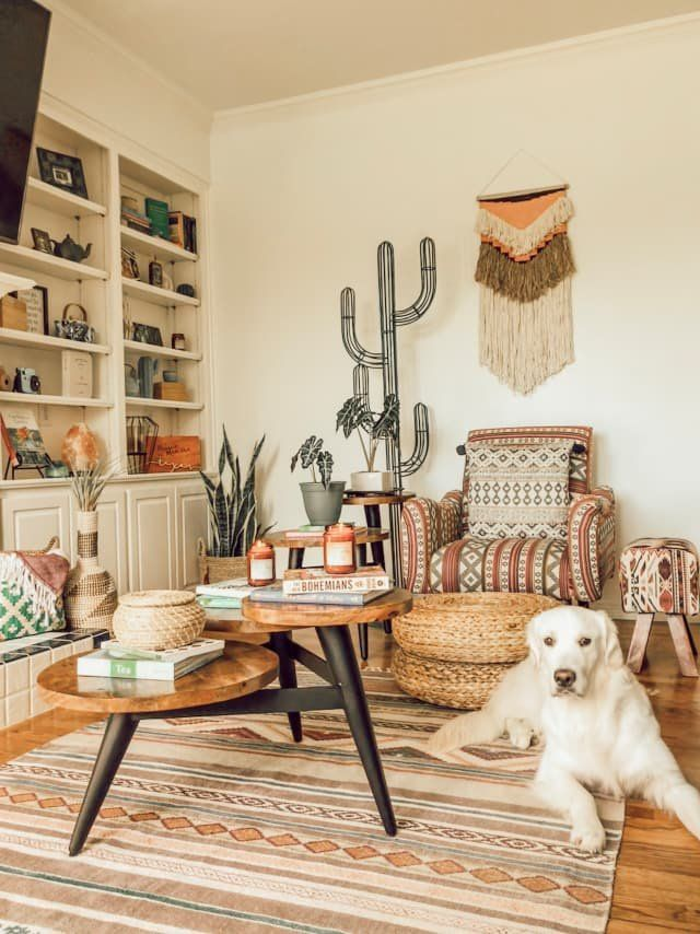 First Time Home Buyers Make A Desert Boho Dallas House