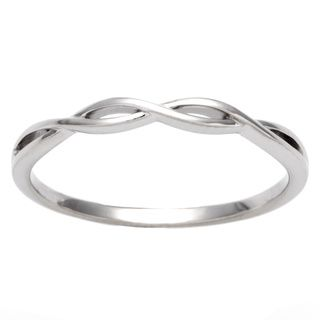 Miadora 10k White Gold Braided Wedding Band | Overstock.com Shopping - The Best Deals on Gold Rings