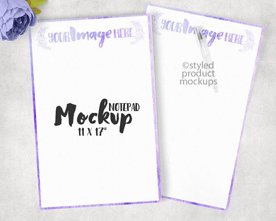 Paper notepad mockup template Add your own image and