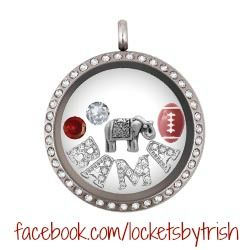 Alabama themed origami owl locket.